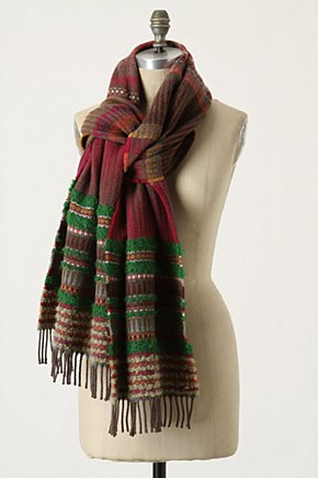 Stories Untold Scarf - Anthropologie.com :  wooly mohair colorful scarf