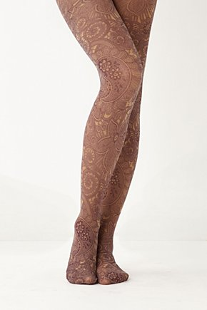 Plum Paisley Tights - Anthropologie.com