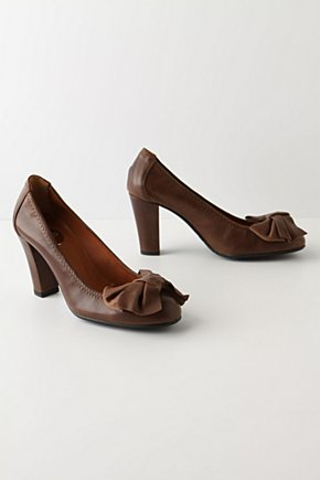 Third Act Heels - Anthropologie.com :  oversized bow leather brown heels