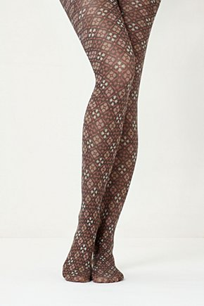 Tapestry Tights - Anthropologie.com :  nylon brown tights diamond