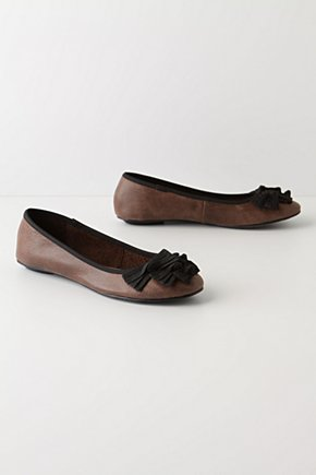 Take Five Flats - Anthropologie.com :  bows leather skimmers grosgrain