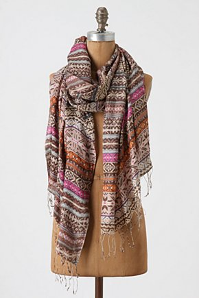Svea Scarf - Anthropologie.com :  aztec inspired silk scarf
