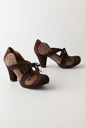Muccia Platforms - Anthropologie.com :  tricolor lace up brown metallic