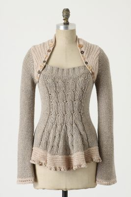 88b415d49 I would love to copy this sweater from Anthropologie. It s on my to do list  when I find the right cable knit sweater. This isn t a refashion but  something I ...