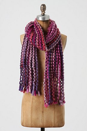 Waved Spectrum Scarf - Anthropologie.com :  yarn colorful loopy scarf