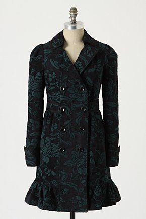 Emerald Isle Coat - Anthropologie.com :  coat emerald side pockets brocade