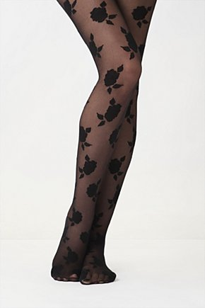 Inkblot Rose Tights - Anthropologie.com :  sheer nylon floral polka dots