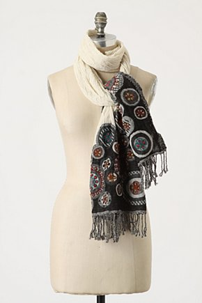 Xiamen Temple Scarf - Anthropologie.com :  fluttery wool gauze brocade