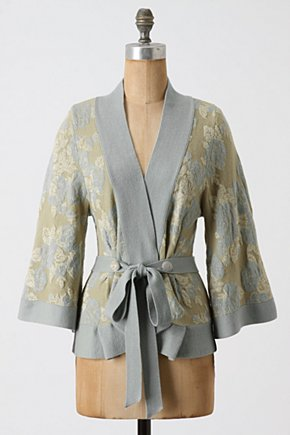 Winter Solstice Wrap - Anthropologie.com :  tie closure wrap sweater metallic