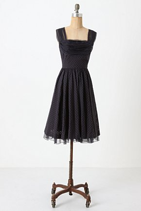 Peggy Sue Dress - Anthropologie.com :  party frock chiffon navy vintage inspired