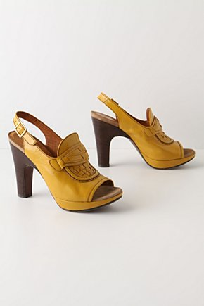 Corn Lane Slingbacks - Anthropologie.com :  buckle yellow peep toe leather