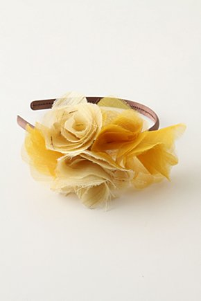 Fairy Tale Headband - Anthropologie.com :  headband silk gold flowers