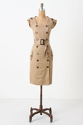Double-Breasted Shirtdress - Anthropologie.com :  shirt dress cotton button closure tailored