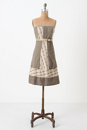 Walk With Me Dress - Anthropologie.com :  mixed prints patchwork day dress cotton