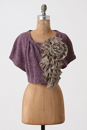 Adler Shrug - Anthropologie.com :  cropped yarn cloak purple