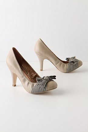 Sloan Square Heels - Anthropologie.com :  pumps bow leather stripes