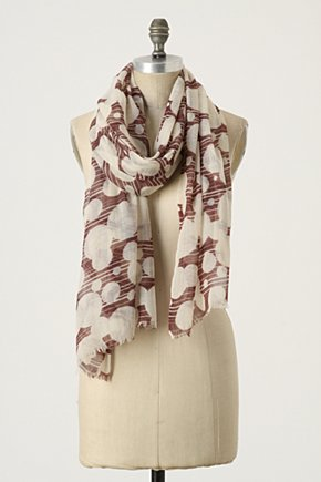Fill-In-The-Blanks Scarf - Anthropologie.com :  cashmere cotton geometric scarf
