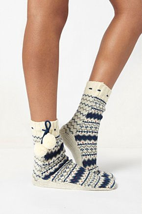 Orkney Mukluks - Anthropologie.com :  socks sweater knit fair isle stockings