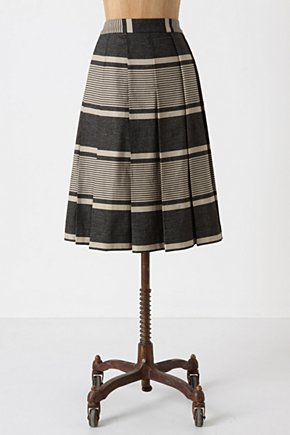 A Separate Space Skirt - Anthropologie.com :  cotton stripes pleated onyx