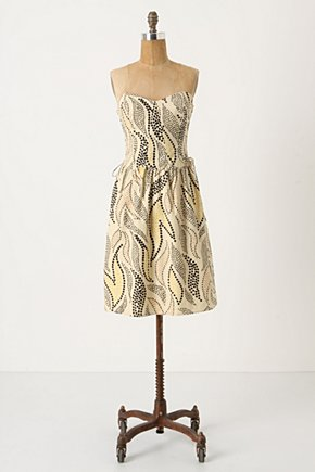 Stippled Deciduous Corset Dress - Anthropologie.com :  artistic boning corset inspired lace up