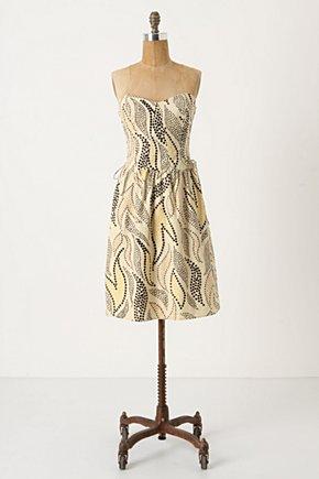 Stippled Deciduous Corset Dress-Anthropologie.com