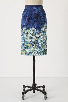 Scenes Of Arles Skirt - Anthropologie.com :  floral impressionist sateen pencil skirt