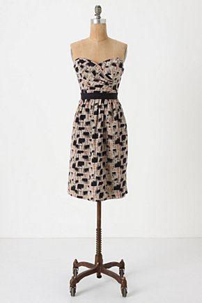 Blurred Shapes Dress - Anthropologie.com :  luxe artistic flowy silk