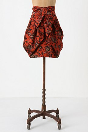 Jacquard Missive Skirt - Anthropologie.com :  bubble skirt red tucked jacquard