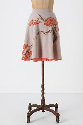 Soft Sakura Skirt - Anthropologie.com :  wool underskirt sweet draped