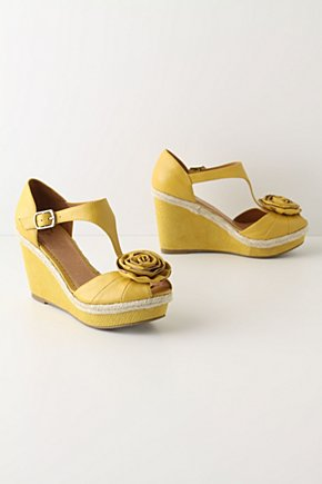 Lemon Stick Wedges - Anthropologie.com :  flower yellow citrus adjustable