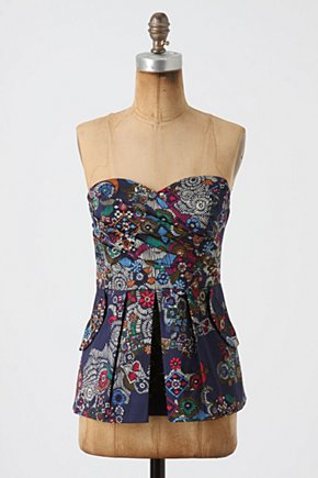 Primula Corset Top - Anthropologie.com :  blue and floral cheery corset colorful