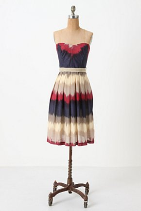 Color-Dipped Dress - Anthropologie.com :  sundress ivory magenta boning