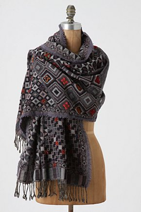Slopes Scarf - Anthropologie.com :  wool stitching geometric scarf