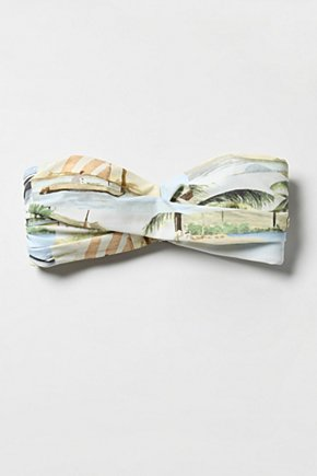 Worldly Wise Top - Anthropologie.com :  bikini ties at back person tie back