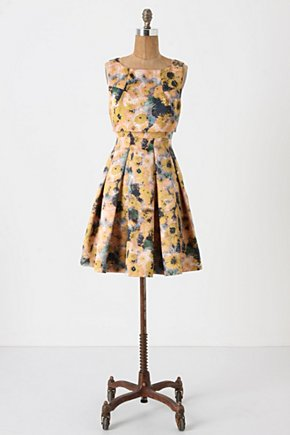 Gunilla Dress - Anthropologie.com :  party frock silky yellow high neck