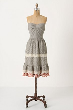 Miss Swiss Corset Dress - Anthropologie.com :  frock lace corset top navy