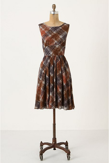 Contemporarian Dress - Anthropologie.com :  artistic shift dress waistband tartan