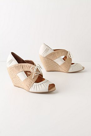 Spectator Espadrilles - Anthropologie.com :  wedge spectators lace up jute