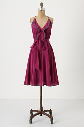 Gull Wing Dress - Anthropologie.com :  piping silk ruffles nautical