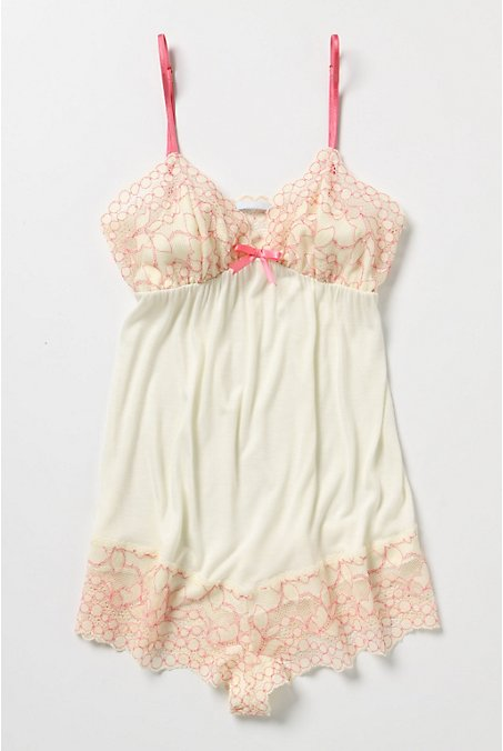 Sugared Grapefruit Bodysuit - Anthropologie.com :  embroidered bodysuit grapefruit jersey