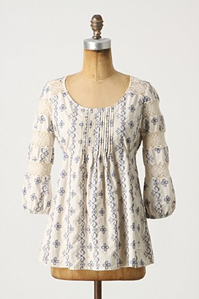 Lavender Fields Peasant - Anthropologie.com :  blouse smocking cinched peasant top