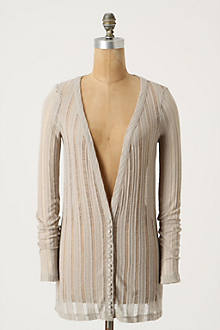 Feather-Striped Cardigan