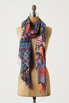 Hanami Scarf - Anthropologie.com :  silk asian inspired scarf flowers