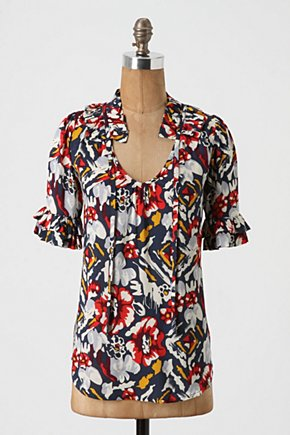 Vitalize Blouse - Anthropologie.com :  floral blouse pullover geometric