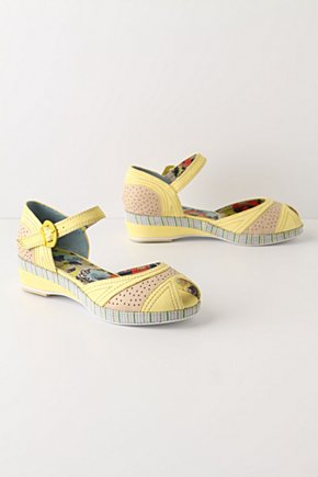 Lemon Cooler Sandals - Anthropologie.com :  buckle summery yellow sunny