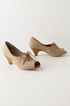 Miniver Lace-Ups - Anthropologie.com :  peep toe trimmed oxfords retro inspired