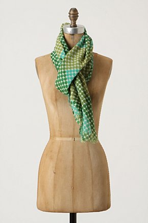 Diamonds-Of-Dots Scarf - Anthropologie.com :  wool blend polka dots silk blend geometric
