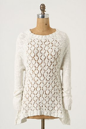 Ensnared Ideas Pullover - Anthropologie.com :  fluttery sweet textured sweater