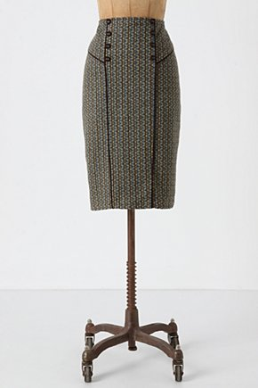 Style Guide Skirt - Anthropologie.com :  knee length preppy tweed pencil skirt