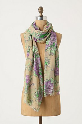 Advanced Floriculture Scarf - Anthropologie.com :  wool rose print scarf